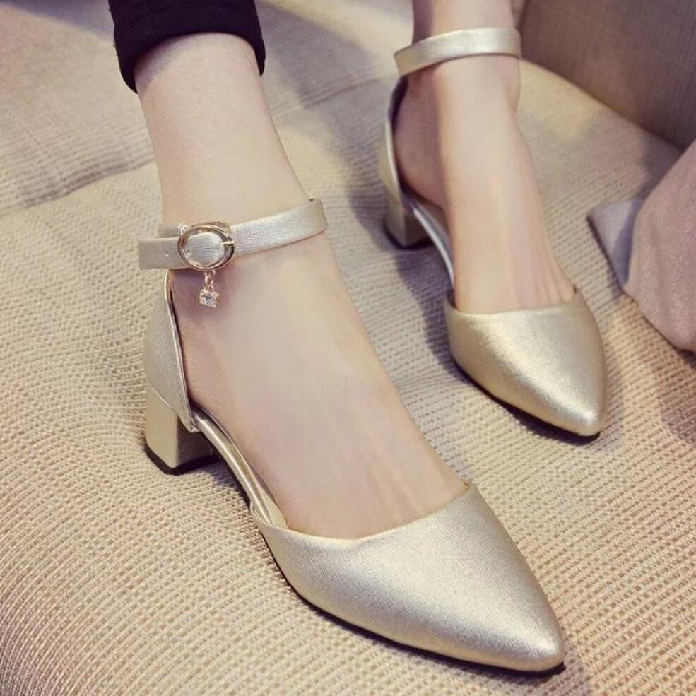 chaussures femme ete 2017 Spring Pumps  Sexy High-heeled Shoes Pointed OL Office Elegant Women's wedding Shoes dames schoenen jardin d ete