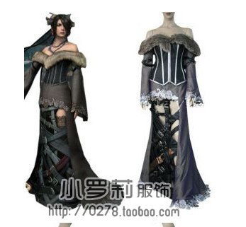 Final Fantasy X 10 Lulu Cosplay Costume halloween party dress with high quality adult christmas dress costom made