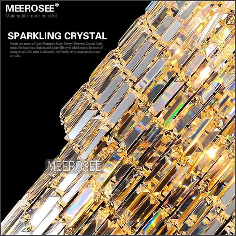 Lang krystal lysekrone Lysarmatur Klassisk gylden krom Hotel Crystal - Indendørs belysning - Foto 5