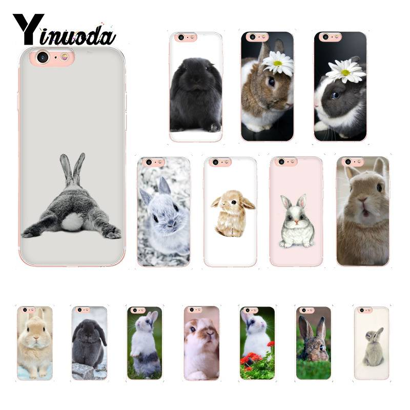 Yinuoda rabbit <font><b>bunny</b></font> cute DIY Luxury High-end Protector <font><b>Case</b></font> For <font><b>iPhone</b></font> 8 7 6 6S Plus X XS MAX 5 <font><b>5S</b></font> SE XR 11 11pro 11promax image