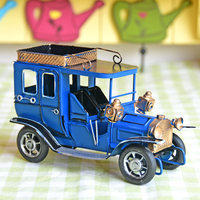 Antique Imitation Tin Gran Torino desktop children Toys Car Model collection Crafts Gifts