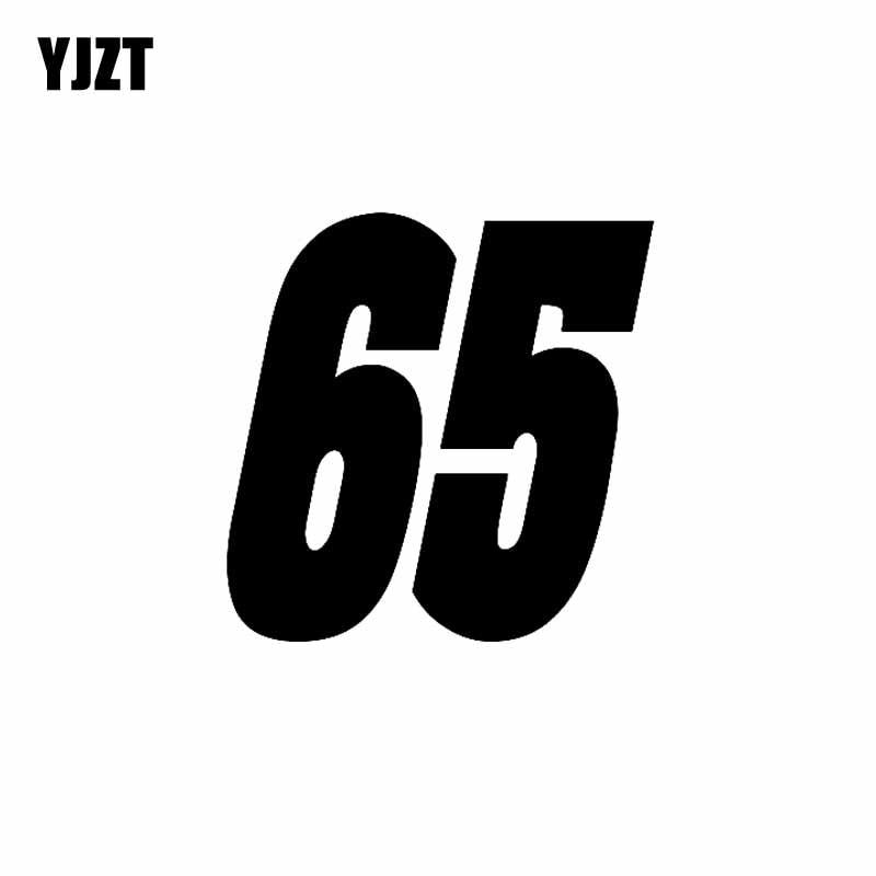 YJZT 13 см * 13 см интересный номер 65 украшение автомобиля-Стайлинг автомобиля Наклейка Виниловые аксессуары C11-0862