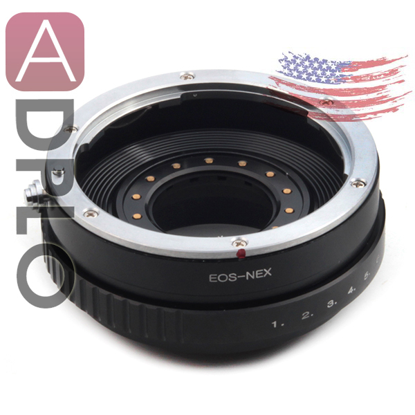 Trabalho de abertura ajustável para Canon EOS EF Lens para SONY NEX-6 NEX-5R NEX-F3 NEX-7 NEX-5N NEX-5C NEX-C3 NEX-3 NEX-5