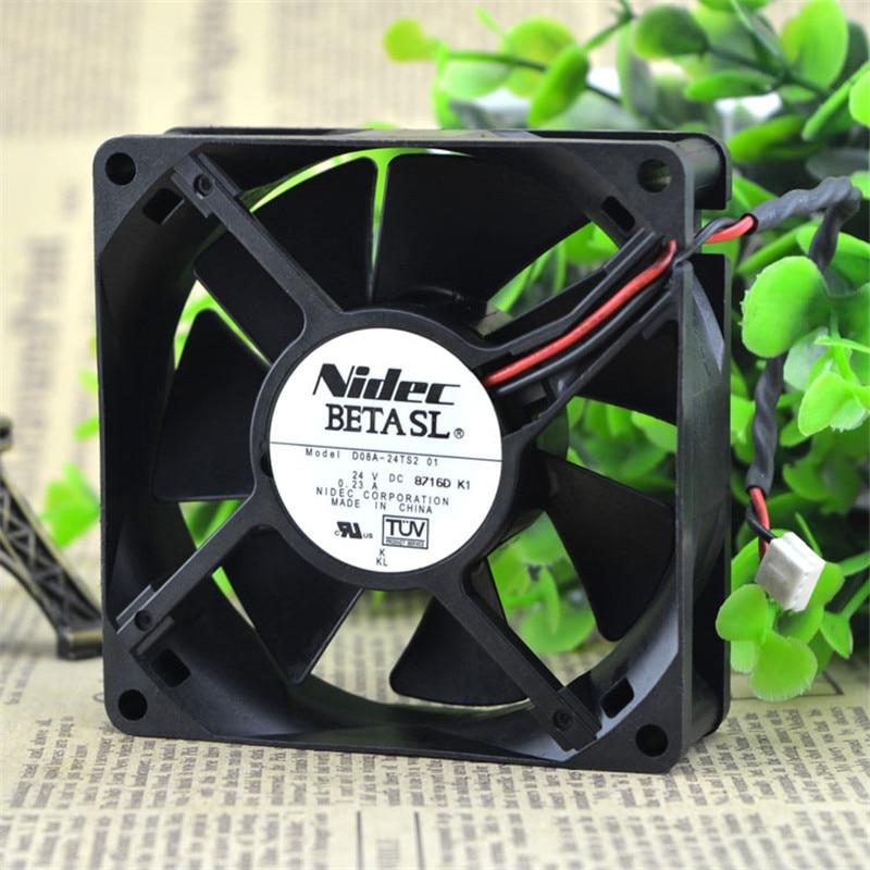 Brand New For NMB 08025SS-24N-AL 8cm 8025 DC 24V 0.12A cooling fan 3100RPM 41.3CFM