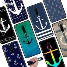 Nautical Anchor Black Soft Case for Oneplus 7 Pro 7 6T 6 Silicone TPU Phone Cases Cover Coque Shell