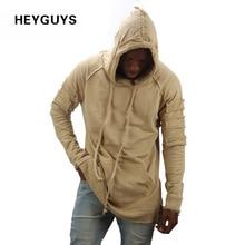 HEYGUYS neue design hoodie zerrissene schaden männer color mode sweatshirts marke original design casual pullover herbst hip hop