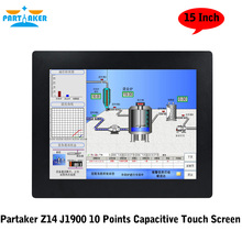 Partaker Z14 OEM All In One PC 2MM Ultra Thin 10 Points Capacitive Touch Screen With CPU J1900