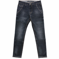 New Fashion Baggy Jeans Business Men's Wear Elasticity Unique Double Pocket Design Casual Men's Clothing Anti theft Zipper Jeans