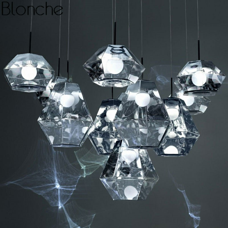 Том Диксон огранки Алмазная Лава подвесные светильники светодиодные лампы современный подвесной светильник для гостиной Лофт Промышленны