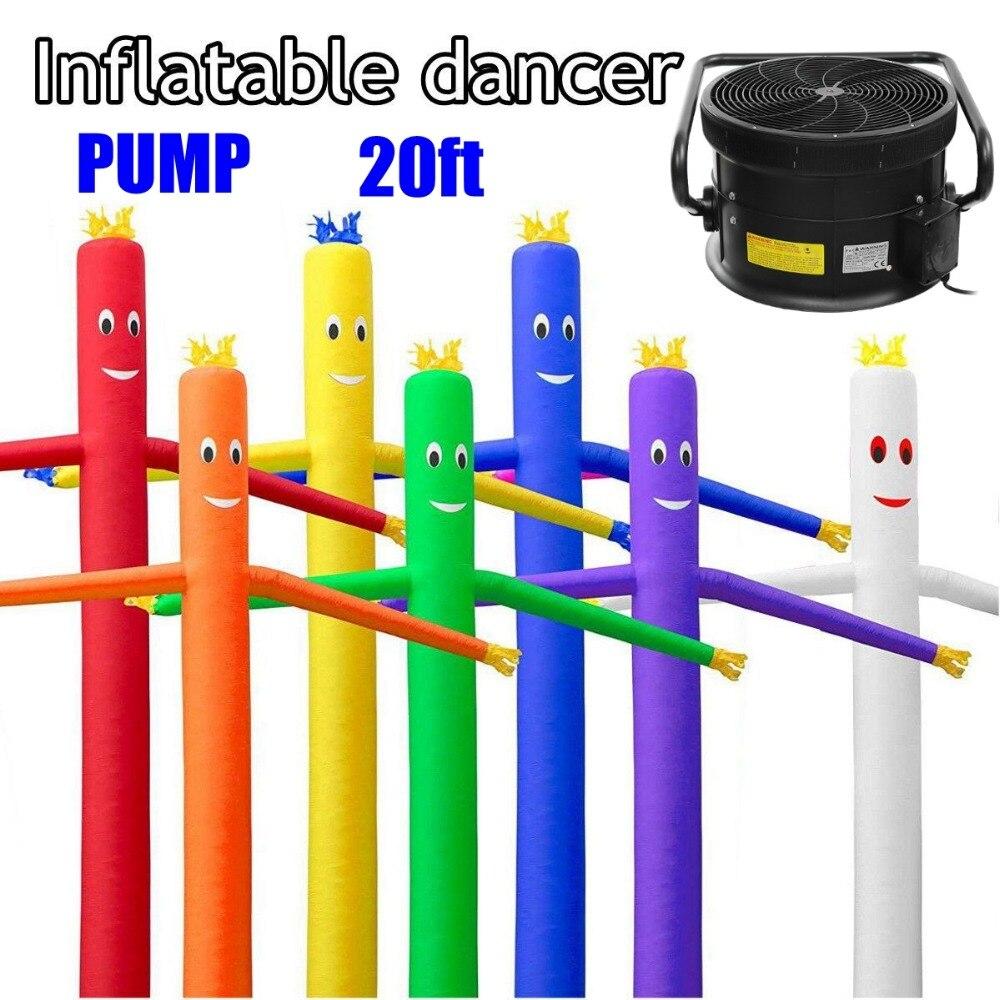 20ft/6 m Vent Danseur Tube Homme de Bande Dessinée Gonflable Danse Air Marionnette Out Door Air Ciel Danse Homme Pour publicité