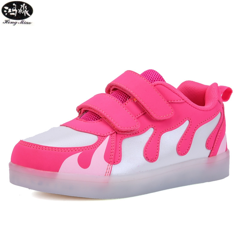 Led Glowing Sneakers Light Up 7 Colors USB Charge Girls Boys Led Children Shoes Colorful Breathable Sneakers joyyou brand usb children boys girls glowing luminous sneakers teenage baby kids shoes with light up led wing school footwear