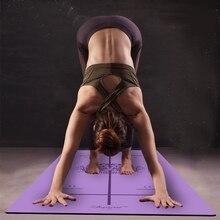Позиционная линия более длинная Натуральная Резина Нескользящая Tapete Yoga замшевая ткань упражнения для снижения веса коврик для занятий фитнесом, йогой