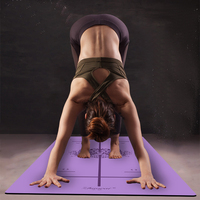 Position Line More Longer Natural Rubber Non Slip Tapete Yoga Suede Fabric Lose Weight Exercise Mat Fitness Yoga Mat
