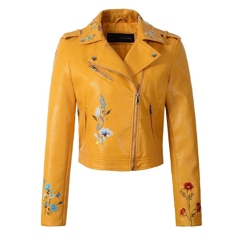 2017 New Autumn Winter Women PU Faux Leather Jackets Lady