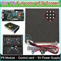 DIY P6 Крытый полноцветный светодиодный дисплей  светодиодный знак  RGB P6 СВЕТОДИОДНЫЙ модуль (192*192 мм) 20 шт/0 75 кв. М. + Карта управления HD-C10 + блок ...
