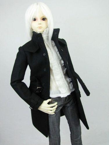 [wamami] 500# Black Tweed Coat MSD DZ DOD 1/4 BJD Dollfie Clothes Accessories Free shipping