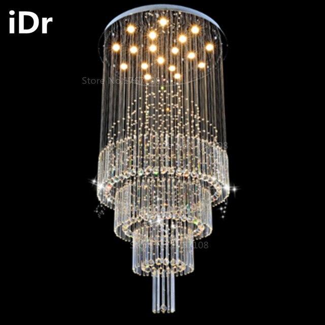 Duplex woonkamer verlichting kristal lampscircular hal hotel villa ...