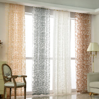 Christmas Dendrite Jacquard Curtain High Grade Fabric Fashion Pattern Voile Curtains Custom Tulle For Living Room