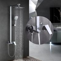 2018 New high end engineering hot and cold mixer shower faucet flower all copper faucets chrome shower faucets