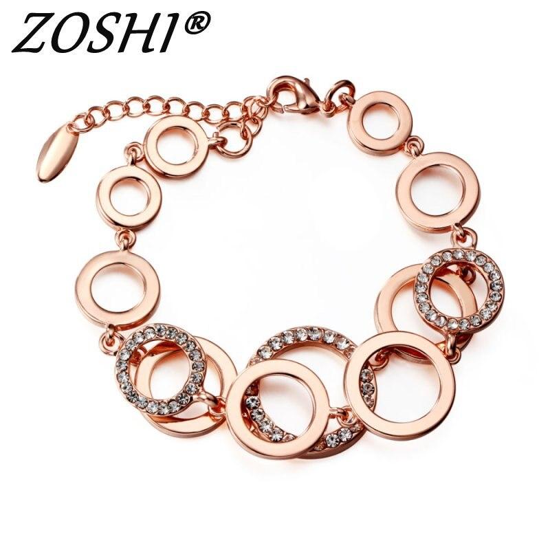 Rose Gold Circles Bracelet...
