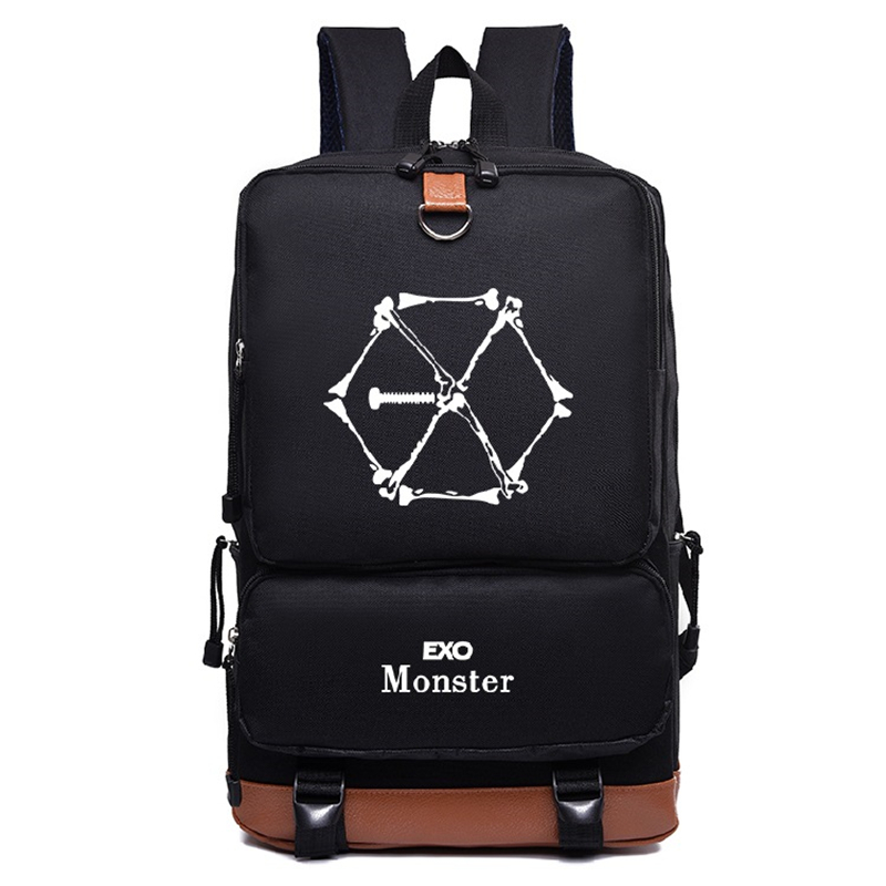 Men's Bags Symbol Of The Brand Exo Exact Monster Lucky One Backpack School Bags Galaxy Thunder Mochila Bags Laptop Chain Backpack Usb Port