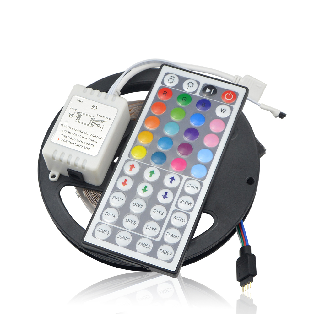 Online shop 2444 key remoter controlled 2835 led rgb strip light online shop 2444 key remoter controlled 2835 led rgb strip light dc12v 5mroll 60ledsm living room bedroom car shopwindow decorative light aliexpress mozeypictures Choice Image