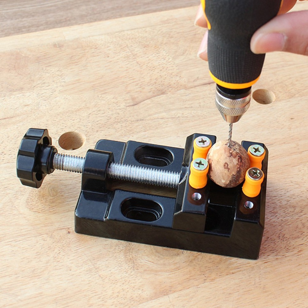 New Style 57mm Adjustable Mini Jaw Bench Clamp Drill Press Vice Table Vise DIY Sculpture Craft Hand Tool Woodworking diy carving tool kit micro pin vise hand drill chunck mini walnut vise clamp table bench vice 20pcs micro twist drill bit set