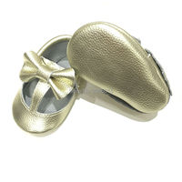 New Gold Buckle T Bar Design Baby Moccasins Girls Baby Shoes High Quality First Walk Newborn