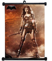 Wonder Woman Sexy Girl Justice League USA Hero Wall Scroll Poster Mural Decor #3 80x60cm