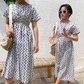 Одежда для мамы и дочки; длинное летнее платье макси для девочек; платья принцессы для подростков; эластичная талия для девочек; белая детск...