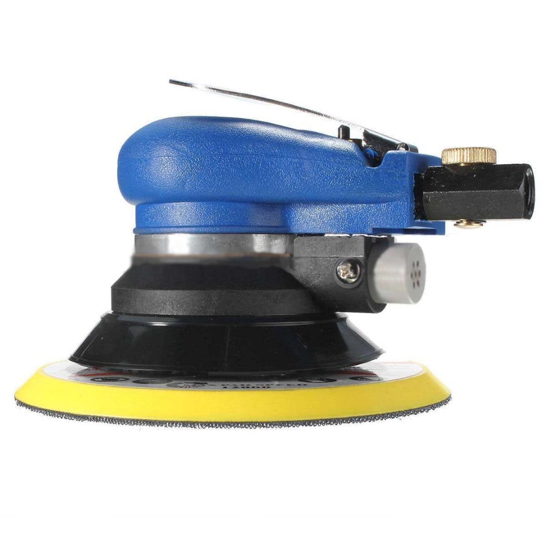 New Sanding Polisher 6'' Air Random Orbital Palm Vacuum Sander Sandpaper Auto Body Orbit DA Grinding Polishing Machine Mayitr