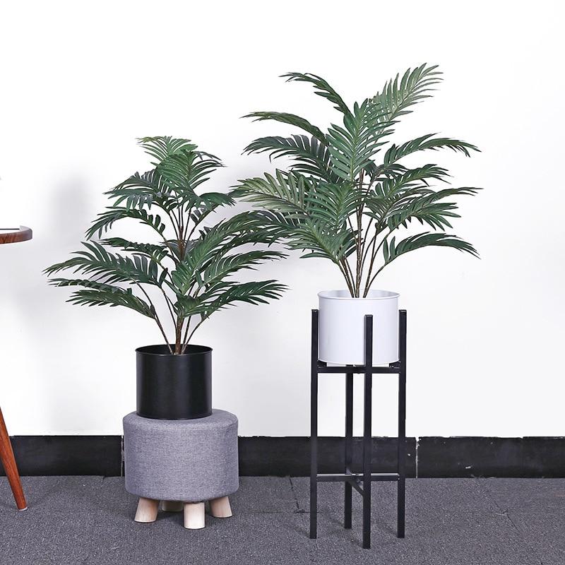 70CM Artificial Palm Plants Silk Leaves Artificial Tree Plastic Stems Tropical Fake Plants Home Garden Decor No Pot