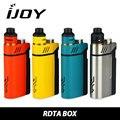 Em Estoque IJOY RDTA CAIXA 200 W Kit Kit 12.8 ml de suco E-Cig Eletrônico Capacidade NI/TI/SS com IMC De Construção Da Plataforma 100% Original