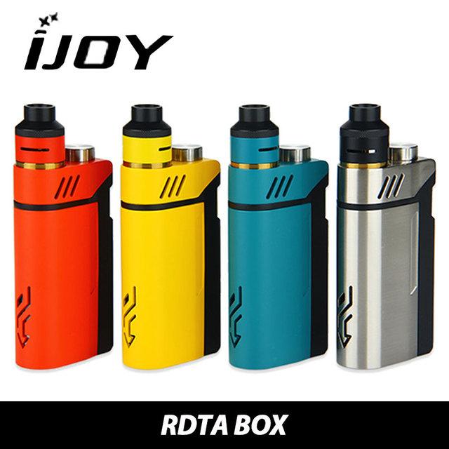 En stock ijoy rdta caja 200 w kit 12.8 ml e-jugo capacidad cigarrillo electrónico kit ni/ti/cubierta de la construcción ss con imc 100% original