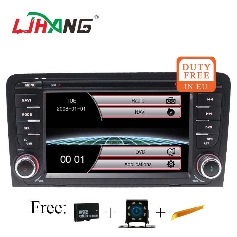 LJHANG 2 Din Car Multimedia Player for Audi A3 S3 2002-2013 GPS Navigation Bluetooth Auto Stereo Headunit Radio RDS Mirror LinkLJHANG 2 Din Car Multimedia Player for Audi A3 S3 2002-2013 GPS Navigation Bluetooth Auto Stereo Headunit Radio RDS Mirror Link