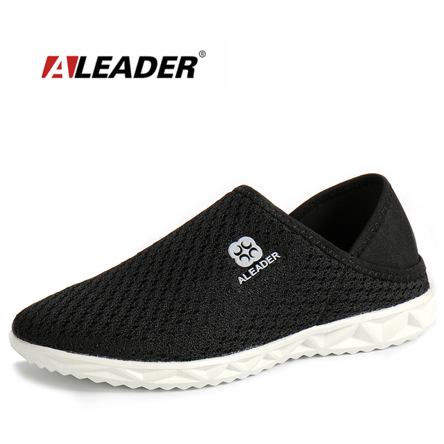 364d81f1f0bedd US $20.39 49% OFF|Aleader Leichte Unisex Schuhe Sommer Casual Mesh Schuhe  Männer Hausschuhe Slip Auf Atmungsaktive Wanderschuhe Männlichen ...