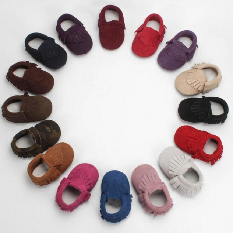 Shoes Newborn Moccasin Footwear Prewalkers Crib Babe Classic Infant Baby Kids Genuine-Leather