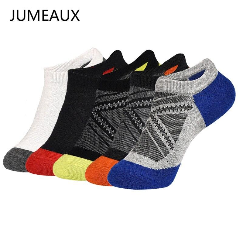 JUMEAUX Breathable Mountain Socks for Men Casual Fiber Mesh Cotton Socks 3 Pair Summer Spring Sock EU 39-44