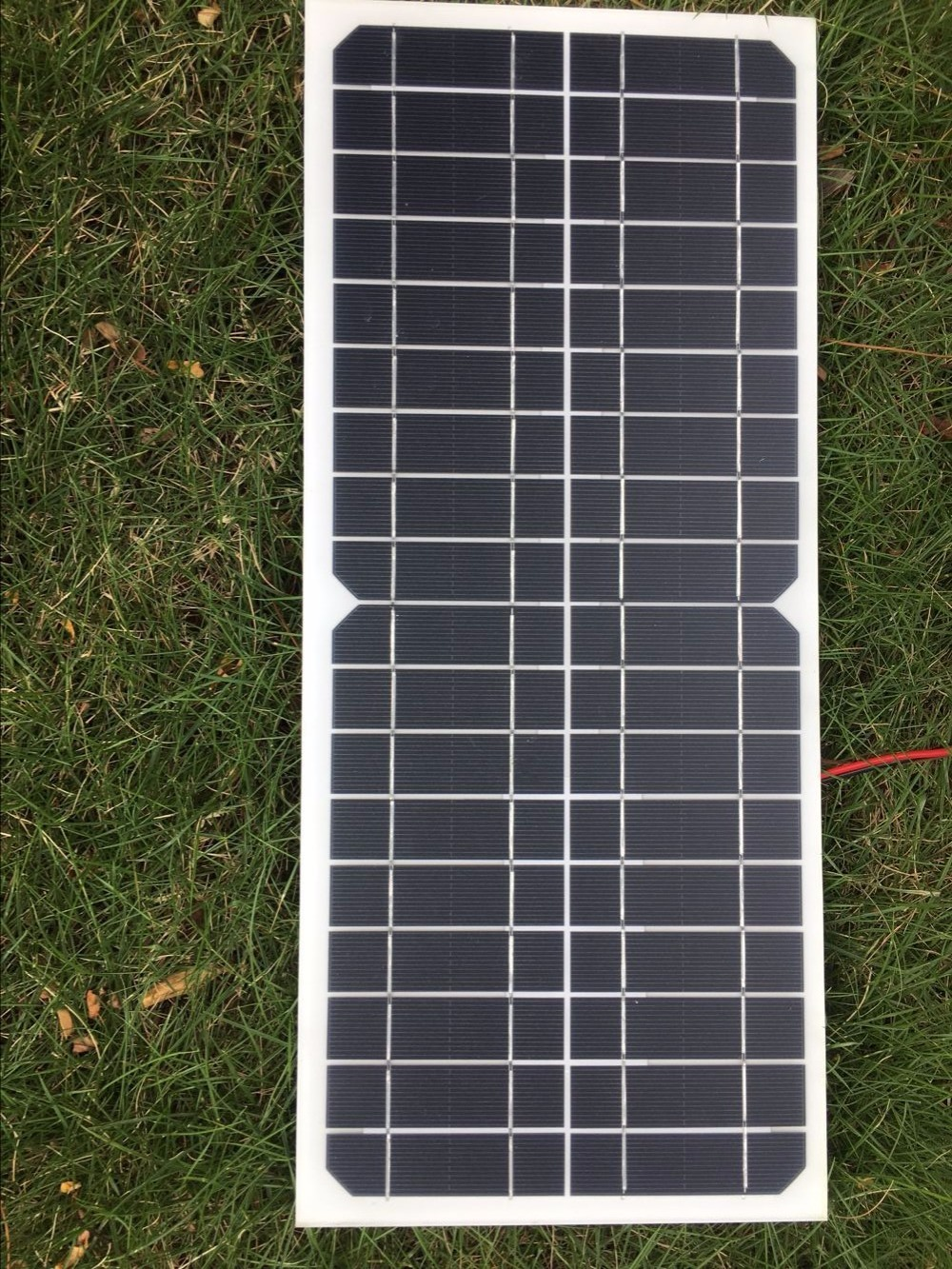 CNH 18V 10w solar cell kit Transparent semi-flexible Monocrystalline solar panel DIY module outdoor connector DC 12v charger image