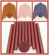 New 6 colors 30pcs / pack round stick bar office supplies and wedding invitation card wax seal glue gun use