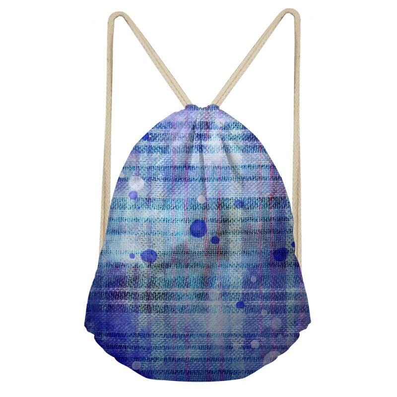THIKIN Blue Dandelion Women Men Drawstring Bags Teenagers Fashion Shoulder Bags New Arrival High Capacity Women Backpack Custom