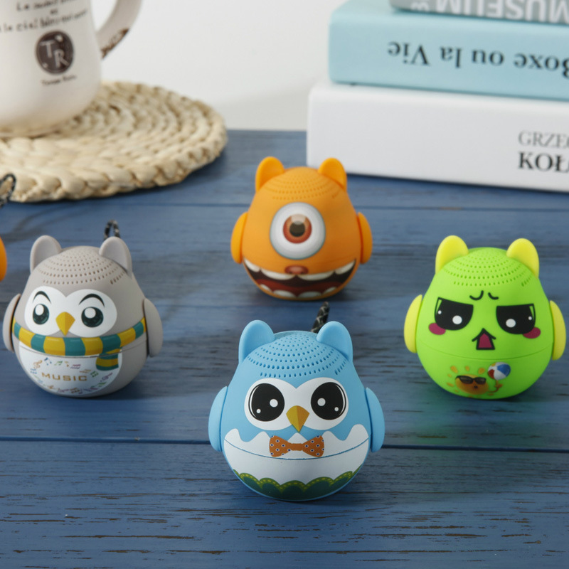 Mini Animal Wireless Bluetooth Speaker Mini Sound Box Cute Audio Owl Player Portable Cartoon Outdoor Music Player