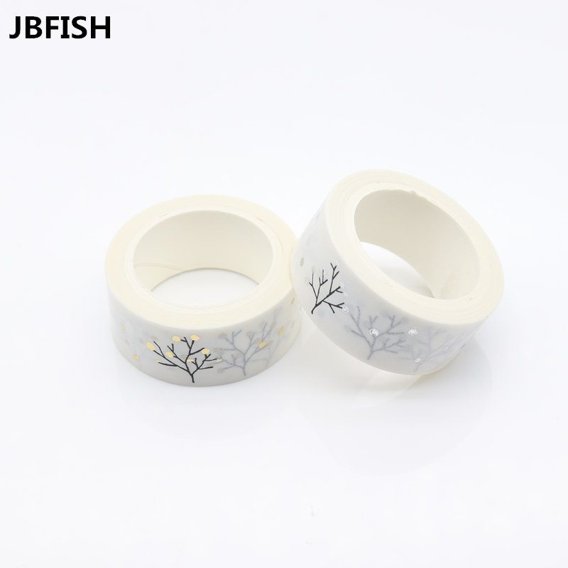 JBFISH silver Foil Printing Japanese paper and paper tape hand stickers stickers diary album decoration stickers 1011 kitmmm6200341296pac103620 value kit pacon riverside construction paper pac103620 and highland invisible permanent mending tape mmm6200341296