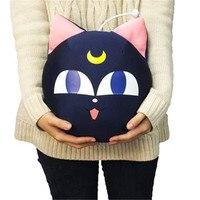 32cm Official Japan Anime BANDAI Sailor Moon Pet Cat LUNA P ball Beads Plush Toy Cute Dolls Sofa Pillow Cushion girlfriend Gift