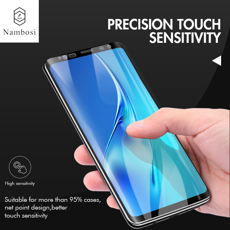 Nambosi 3D tempered glass for Samsung galaxy S8 S9 Note 9 Note 8 screen protector Samsung Note 9 S8 S9 plus Explosion proof film in Phone Screen Protectors from Cellphones Telecommunications