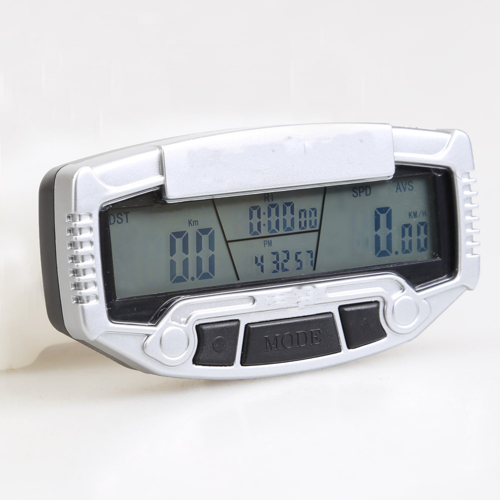 LED Digital LCD Backlight Bicycle Computer Bicycle Odometer + Speedometer + Stopwatch Bi ...