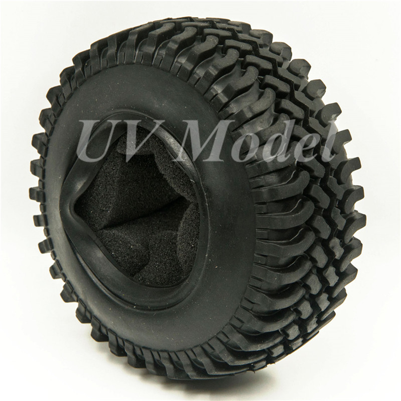 4pcs 100mm 1.9 Rubber Rocks Tyres / Wheel Tires For SCX10 D90 RC Rock Crawler Car 1:10 Monster Truck RC On-Road Car Parts 4pcs 1 9 rubber tires