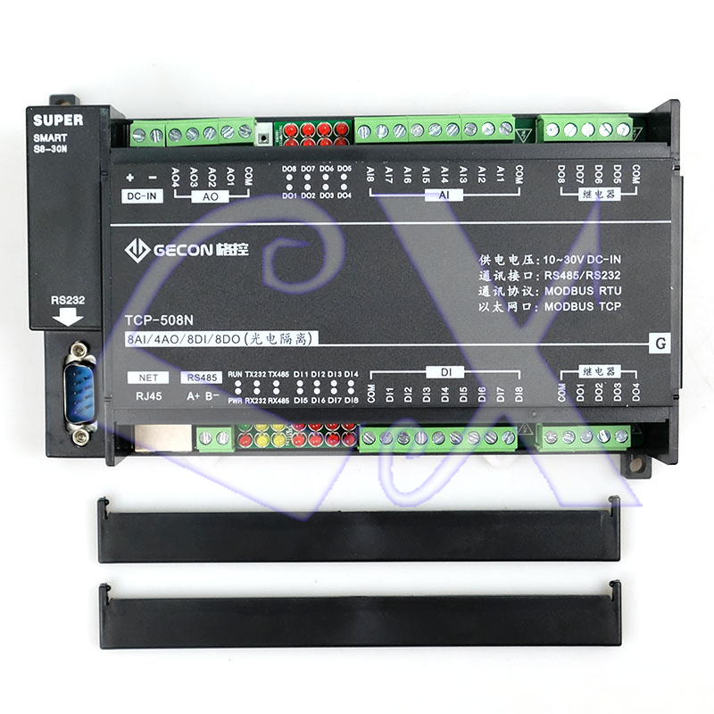 8AI Analog Input 4AO Analog Output 8DI Switch Input 8DO Relay Ethernet IO Module RS485 RS232 MODBUS TCP&RTU-in Connectors from Lights & Lighting