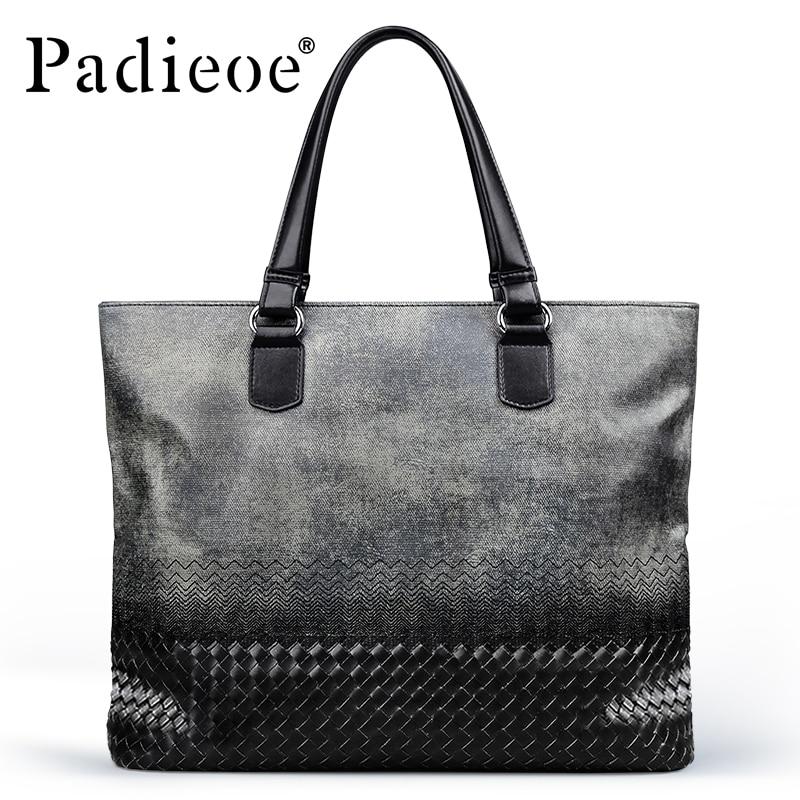 Padieoe Casual Style Men Fashion Handbags Business Men