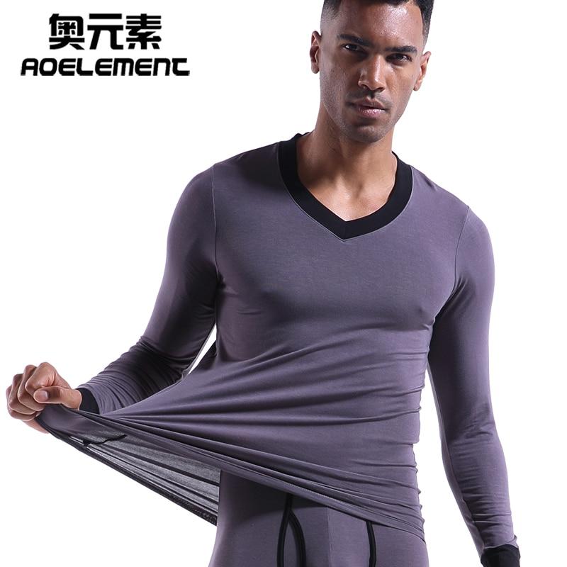 Mens Thermal Long Johns  Short Sleeve T-Shirts Winter Warm Thermal Underwear S-L